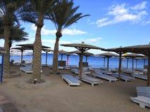 Praia do parasol foto de stock royalty free