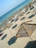 Praia do parasol Fotos de Stock Royalty Free