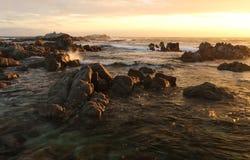 Praia do parque estadual de Asilomar, perto de Monterey, Califórnia, EUA imagem de stock royalty free
