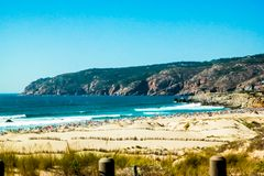 Praia do parque natural de Sintra Cascais Imagens de Stock