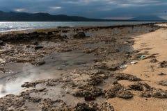 Praia do parque ocidental nacional em Bali Fotos de Stock Royalty Free