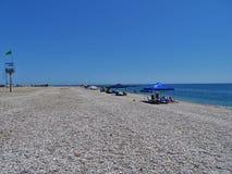 Praia do Pena del Moro do EL Ejido Almeria Andalusia Spain imagens de stock