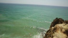 Praia do Pinhao Beach Lagos stock footage