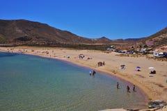 Praia do Playazo de Rodalquilar Nijar Almeria Andalusia Spain imagem de stock