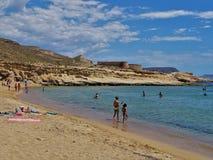 Praia do Playazo de Rodalquilar Nijar Almeria Andalusia Spain fotografia de stock royalty free