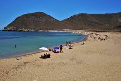 Praia do Playazo de Rodalquilar Nijar Almeria Andalusia Spain fotos de stock