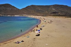 Praia do Playazo de Rodalquilar Nijar Almeria Andalusia Spain foto de stock royalty free