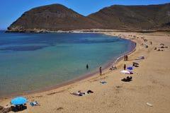 Praia do Playazo de Rodalquilar Nijar Almeria Andalusia Spain fotografia de stock