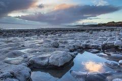 Praia do ponto de Rhoose Imagens de Stock Royalty Free