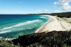 Praia do ponto de Sugarloaf Foto de Stock Royalty Free