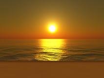 Praia do por do sol Fotos de Stock