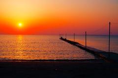 Praia do por do sol Foto de Stock Royalty Free