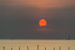 Praia do por do sol Imagem de Stock