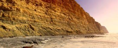 Praia do por do sol - Califórnia fotografia de stock