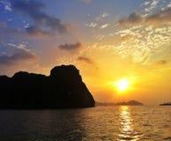 Praia do por do sol em Hanoi Imagem de Stock Royalty Free