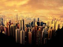Praia do por do sol em Hong Kong Imagens de Stock Royalty Free
