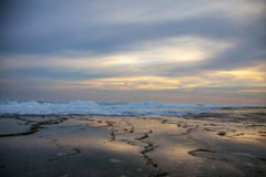 Praia do por do sol em Java central Imagem de Stock Royalty Free