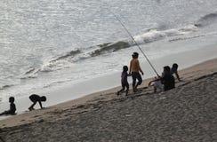 Praia do por do sol em Lombok Fotos de Stock Royalty Free