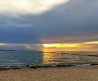 Praia do por do sol em Pattaya Fotografia de Stock Royalty Free