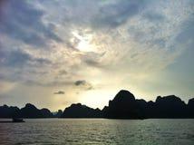 Praia do por do sol em Vietname Imagem de Stock Royalty Free