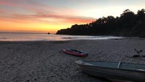 Praia do por do sol de Califórnia fotografia de stock