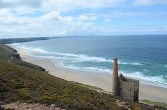 Praia do porth da capela, St agnes, Cornualha Imagem de Stock Royalty Free