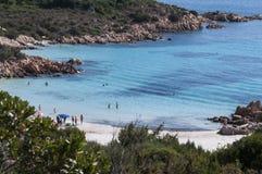 Praia do príncipe de Sardinia Fotografia de Stock