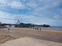 Praia do prazer em Blackpool imagens de stock royalty free