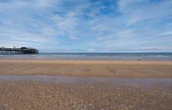 Praia do prazer em Blackpool foto de stock