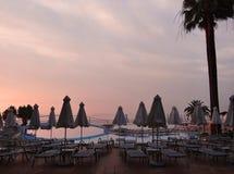 Praia do Rodes após o por do sol Imagem de Stock