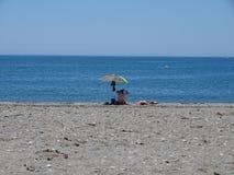 Praia do San Miguel Poniente do EL Ejido Almeria Andalusia Spain imagem de stock royalty free