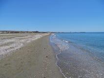 Praia do San Miguel Poniente do EL Ejido Almeria Andalusia Spain imagens de stock