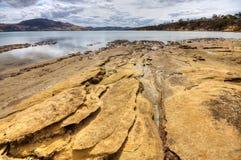 Praia do Sandstone imagem de stock