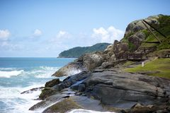 Praia do Santinho, Florianopolis, Brazil Stock Photo