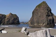 Praia do sul de Oregon fotos de stock royalty free