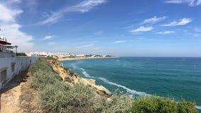 Praia do Túnel (Peneco) πανόραμα Στοκ εικόνα με δικαίωμα ελεύθερης χρήσης