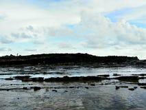 Praia do taraje de Karang a outra vista foto de stock