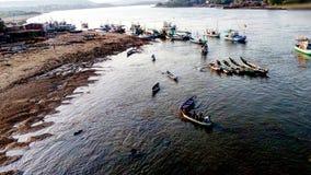 Praia do tempo de manhã Fotos de Stock