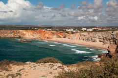 Praia do Tonel at Sagres, Portugal Royalty Free Stock Image