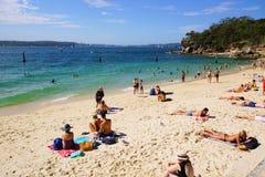Praia do tubarão, Nielsen Park, Vaucluse, Sydney, Austrália Fotos de Stock