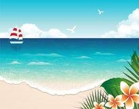 Praia do verão ilustração do vetor