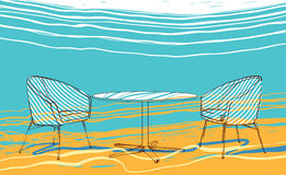 Praia do verão ilustração royalty free