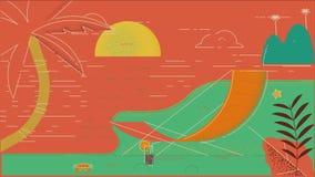 Praia 02 do verão ilustração do vetor