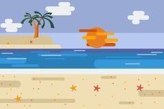 Praia do verão Imagem de Stock Royalty Free