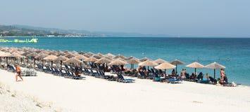 Praia do verão de Chalkidiki Fotos de Stock Royalty Free