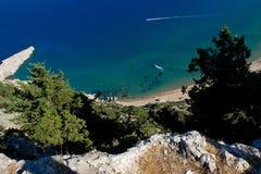 Praia do verão de Grécia Imagens de Stock Royalty Free