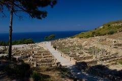 Praia do verão de Rhodos Grécia da pegada Foto de Stock Royalty Free