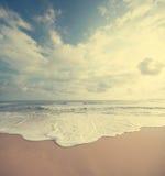 Praia do verão do vintage fotos de stock