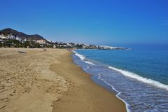 Praia do Vetanicas de Mojacar Almeria Andalusia Spain fotos de stock