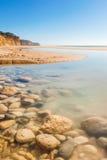 Praia doet Porto DE Mós, Lagos, Algarve royalty-vrije stock afbeeldingen